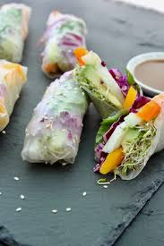 rice paper wrap veggie rainbow rice paper rolls with dipping sauce