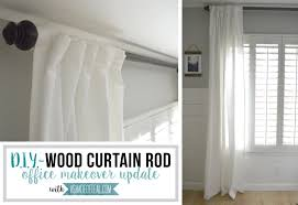How To Hang A Drapery Rod Diy Wood Curtain Rod For Under 20