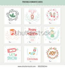 cute vector cards notes stickers labels stock vector 301056344