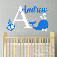 Custom Nursery Wall Decals by Monogram Wall Decals Personalized Family Name Vinyl By Lucylews