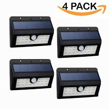 Porch Light Motion Sensor Adapter by Mpowtech 4 Pack 20 Led Solar Lights Outdoor Motion Sensor Wall