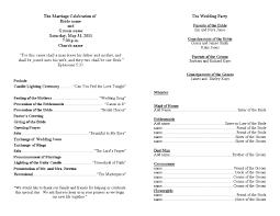 wedding ceremony bulletin template wedding ceremony program clipart 43