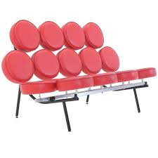 Red Armchairs For Sale Red Leather George Nelson For Herman Miller Marshmallow Sofa For