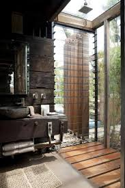 Outdoor Bathrooms Ideas by I Love The Rustic Wood In This Glass Shower Overlooking A