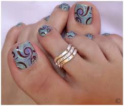toenail nail polish designs how you can do it at home pictures