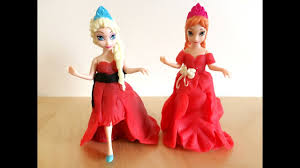disney frozen princess anna and elsa in christmas party dress