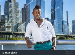 dressing white shirt green pants young stock photo 160440899