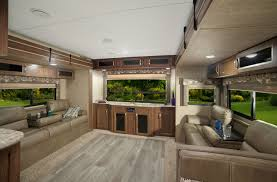 5th Wheel Living Room Up Front by Coleman Rv Travel Trailers