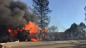 Wildfire Sacramento Area by Wildfire Destroys At Least 9 Homes Near Lake Oroville