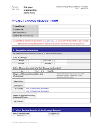 Project Request Form Template Excel Change Request Template Comments Software Change Request Form