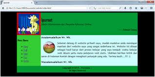 Tutorial Membuat Web Html Sederhana | tutorial cara membuat website sederhana dengan notepad ipursaturnus
