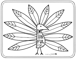 selected thankful turkey craft template coloring cutouts for