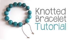 gemstone bead bracelet images Knotted bead bracelet tutorial diy bracelet cord knotting jpg