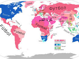 Map Of The World Showing Countries by Football Vs Soccer Map Business Insider