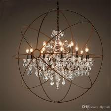 Vintage Crystal Chandeliers Discount Country Hardware Vintage Orb Crystal Chandelier Lighting