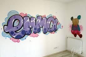 fresque chambre fille décoration murale chambre fille le petit graff