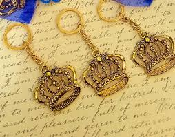 10 royal blue baby shower favors little prince key chain