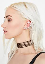 ear cuff silver ear cuff dolls kill