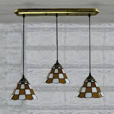 Glass Kitchen Pendant Lights White Finished Yellow Pattern 24 Inch Kitchen Pendant Lighting In