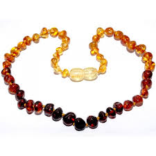 necklace baby images Baltic amber children baby teething necklace rainbow color jpg