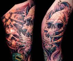 do cross skull tattoos symbolize fear tattoos