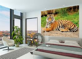 Jacquard Wallpaper Living Room Tiger Photo Wall Paper Majestic Tiger Mural Ideal For Living Room