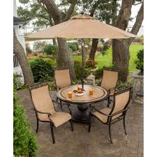 Patio Dining Sets For 4 by Monaco Monaco5pc 5 Piece Outdoor Dining Set 4 Sling Back Dining