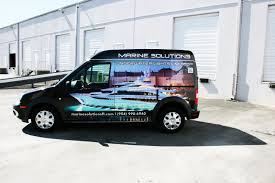 ford transit connect wrap davie florida for marine solutions
