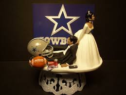 cowboy cake topper dallas cowboys football and groom american or