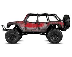 jeep cars red freqeskinz axial jeep rubicon primer series body wrap flame red