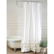 White Cotton Curtains Sofia Linen Shower Curtain A Cottage In The City