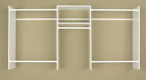 amazon com easy track 4 to 8 foot closet organizer starter kit