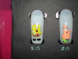 blurry spongebob nail art archive style nails magazine