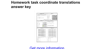homework task coordinate translations answer key google docs