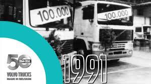 volvo truck parts volvo trucks 50 years made in belgium 1964 2014 youtube