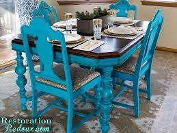 repainted u0026 distressed dining table u0026 chairs by restoration redoux