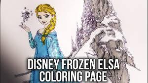 disney frozen coloring book elsa u0026 ice castle speed coloring