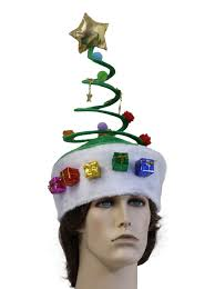 dr suess style springy coil christmas tree hat christmas tree