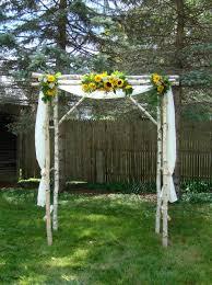 sunflower weddings ultra rustic beutiful canopy in real tree