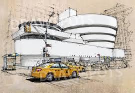 Handmade In New York - new york guggenheim museum handmade sketchcolorful handmade