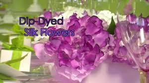 how to dip dye silk flowers