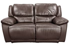 White Leather Loveseats Delray Brown Leather Reclining Loveseat
