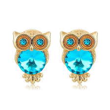 pretty woman earrings gold plated sparkling owl stud earrings pretty woman dreams
