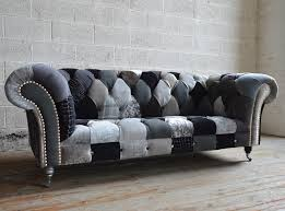 gray chesterfield sofa furniture brighton patchwork chesterfield sofa abode sofas