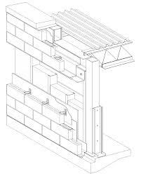 Concrete Block Floor Plans Cavity Wall Concrete Block Veneer Steel Stud