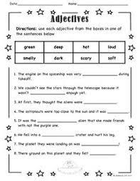 ideas of adjective worksheets for first grade in free huanyii com