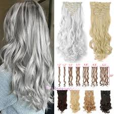 Long Synthetic Hair Extensions by 7pcs 20inch 50cm Clip In Hair Extension Curly Wavy Synthetic Hair