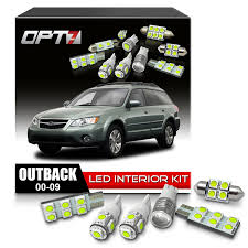 subaru outback white amazon com opt7 10pc interior led replacement light bulbs package