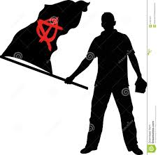 Anarchy Flag Anarchy Stock Vector Image Of Demonstration Human Standing