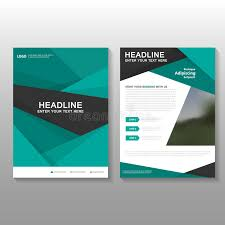 cover layout com abstract green vector leaflet brochure flyer business proposal